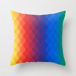 Rainbow geometric pattern Throw Pillow