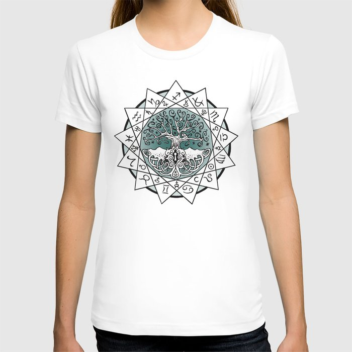 Gate and Key 13 Sign Astrology T-shirt