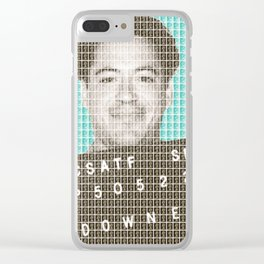 Robert Downey Jr Mug Shot - Light Blue Clear iPhone Case
