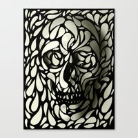 tumblr Canvas Prints featuring Skull by Ali GULEC