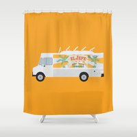 chef Shower Curtains featuring chef by Live It Up
