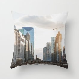 State Street - Chicago Photography Throw Pillow