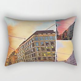 Zurich at sunset collage Rectangular Pillow