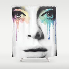 Droplets of Pride.  Shower Curtain