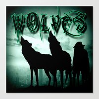 wolves Canvas Prints featuring WolveS by shannon's art space