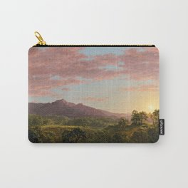 Frederic Edwin Church - A New England Lake - Hudson River School Oil Painting Carry-All Pouch