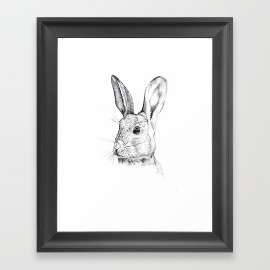 Cheeky Hare Framed Art Print
