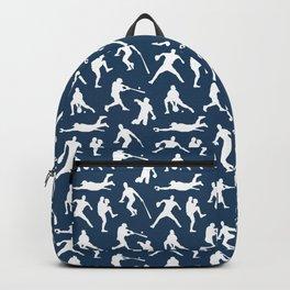 Baseball Players // Navy Backpack