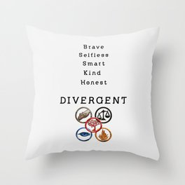 DIVERGENT - ALL FACTIONS Throw Pillow