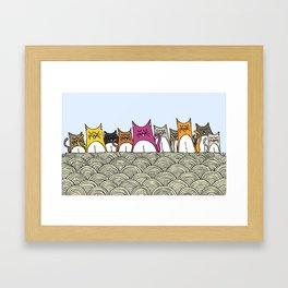 Cat Nation Framed Art Print