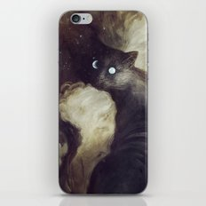 The Cat and the moon iPhone & iPod Skin