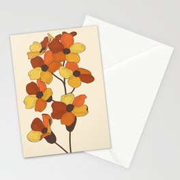 70's Flowers Stationery Cards