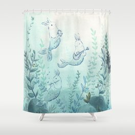 Merbuns Shower Curtain