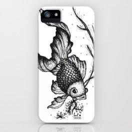 Illustration Poisson Noir - Black Fish de Lucille Bertrand iPhone Case