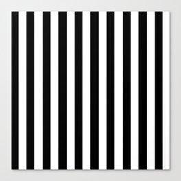 Black and White Stripes  Canvas Print