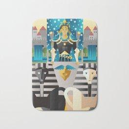 the chariot tarot card Bath Mat