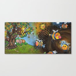 Bee Cave Painting Canvas Print