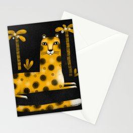 LOUNGING LEOPARD Stationery Cards