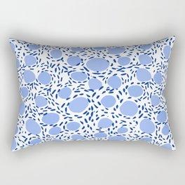 Pebbles cute pattern gender neutral dorm college abstract design minimal modern blue nature art Rectangular Pillow