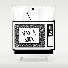 READ A BOOK Shower Curtain
