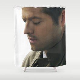 Castiel: Soft Downward Gaze Shower Curtain