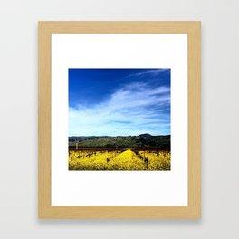 Yountville Yellow Framed Art Print