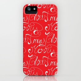Merry Christmas Type Pattern iPhone Case