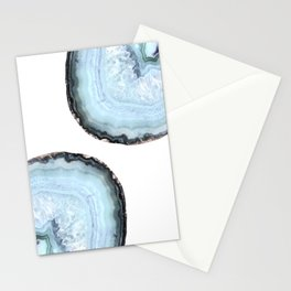 icy blue agate Stationery Cards