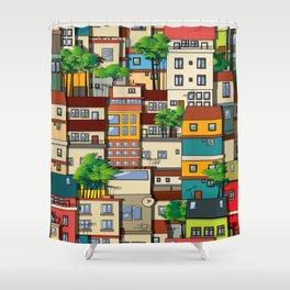 Favela seamless pattern Shower Curtain