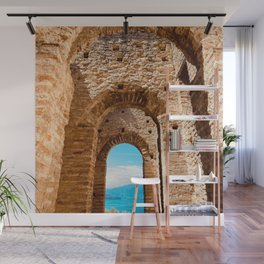 Roman villa, ancient Rome, Sirmione, lake Garda, Grottoes of Catullus Wall Mural