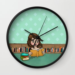The Library is Infinity Under a Roof Wall Clock