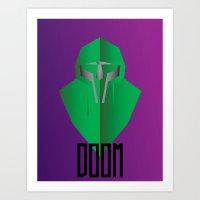 mf doom Art Prints featuring MF DOOM by Tonytintheplace