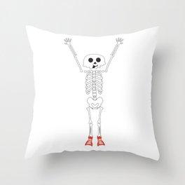 Cool Skeleton Halloween Design Throw Pillow