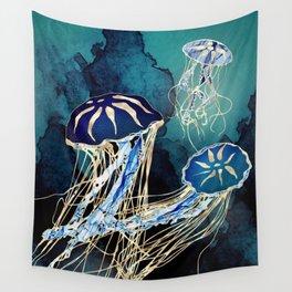 Metallic Jellyfish III Wall Tapestry