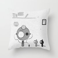 doctor Throw Pillows featuring Doctor by iodine