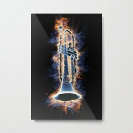 Fire trumpet in concert Metal Print