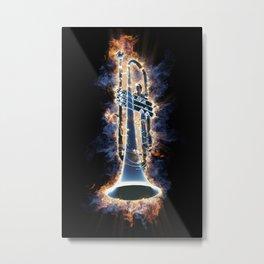 Fire trumpet in concert Metal Print