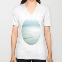 silent V-neck T-shirts featuring Silent Sea by Bella Blue Photography