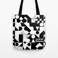 grid Tote Bags featuring GRID by Matt Scobey