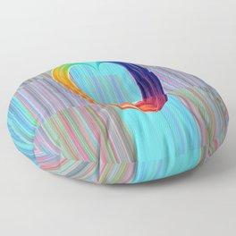 Fractal Art- Pattern Art- Heart Art- Blue Hearts-Pixxie Stixx- LGBT Art- Love- Healing Energy Art Floor Pillow