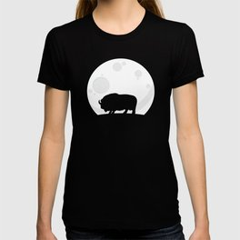 Musk Ox In The Moonlight T-shirt