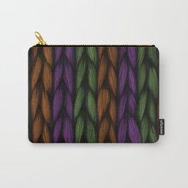 Background weave plait purple Carry-All Pouch