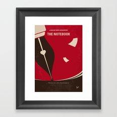 No440 My The Notebook minimal movie poster Framed Art Print