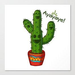 Ayayaye Cactus Quatuor Canvas Print