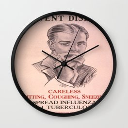 Vintage poster - Prevent Disease Wall Clock