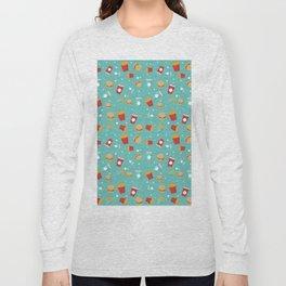 Burgers pattern Long Sleeve T-shirt