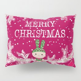 Merry christmas and happy new year 12 Pillow Sham
