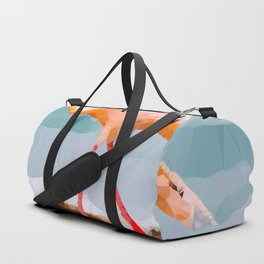 Pink Flamingo Low Poly Geometric Triangles Duffle Bag