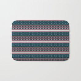 Ships Ahoy Blue/Red Stripe Bath Mat