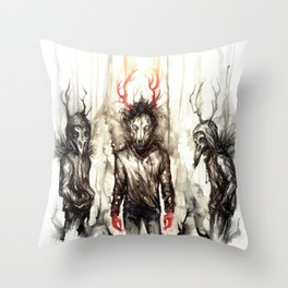 [CanisLupus CorvusCorax ] Throw Pillow